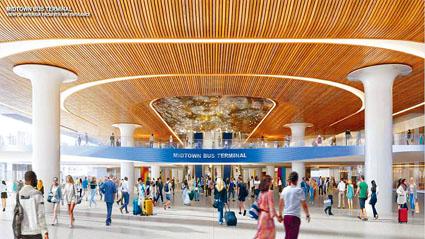 新巴士總站應對乘客的數量增加40%。港務局圖片