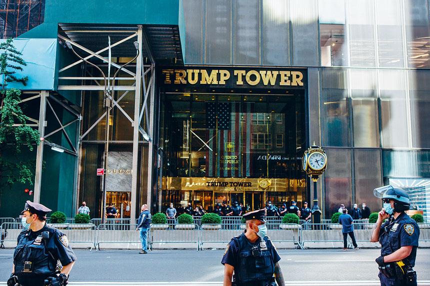 紐約市警務處將解除對特朗普大廈的額外保安。Gabriela Bhaskar/紐約時報