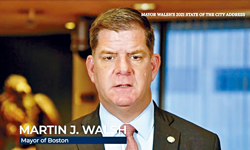 波士頓市長馬丁華殊(Martin J. Walsh)。溫友平攝