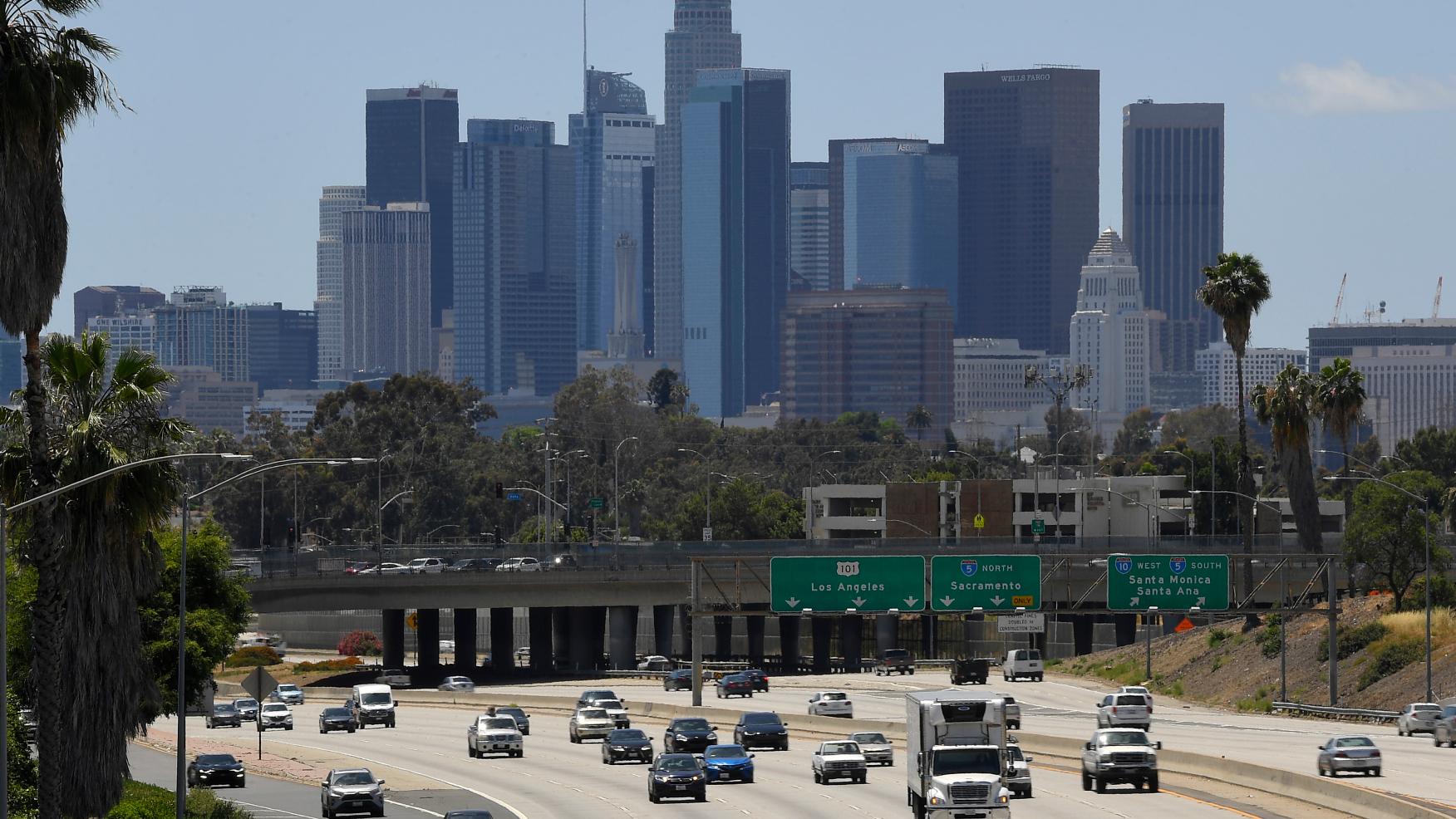 洛杉磯地區在拜登就職前暫時風平浪靜。KT LA/美聯社