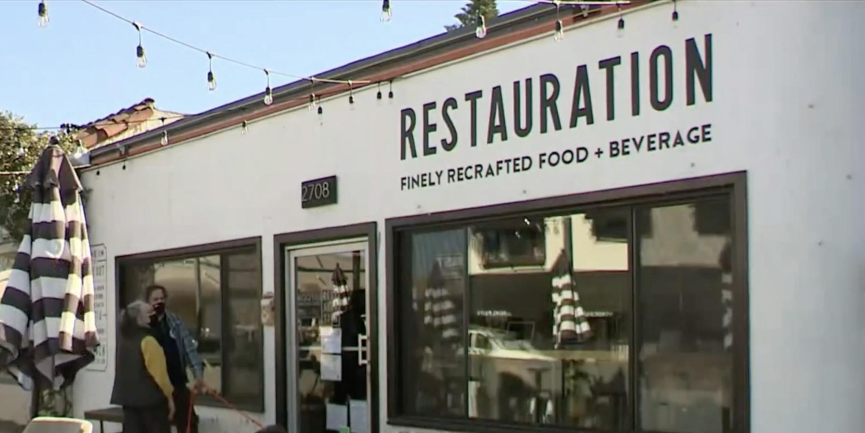 長堤市一家餐廳因多次違反新冠法規而面臨刑事指控。CBSLA新聞畫面