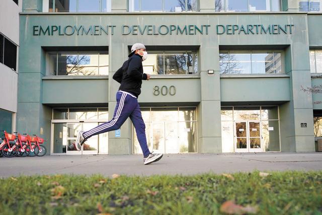加州失業金被詐騙金額可能高達98億元。圖為加州就業發展局沙加緬度辦公室。美聯社