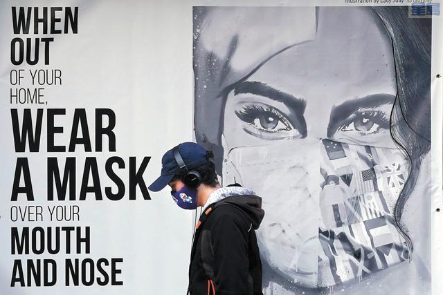 有調查顯示,白人戴口罩比例不及其他族裔。美聯社資料圖片
