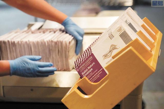 去年11月選舉的郵寄選票,廢票少於1%。美聯社