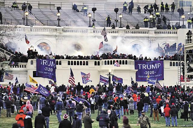 一星期前的國會暴動亂象。洛杉磯時報