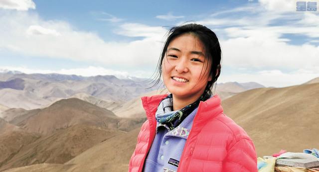 熱愛登山的16歲少女丁禹琪。受訪者提供