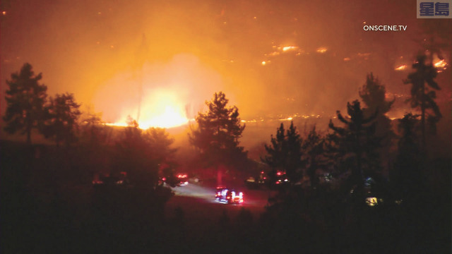 河濱縣聖哈辛託山區週五凌晨爆發博尼塔山火。KTLA