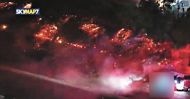 聖塔安那風勢強勁,南加州發生多起大火。abc 7