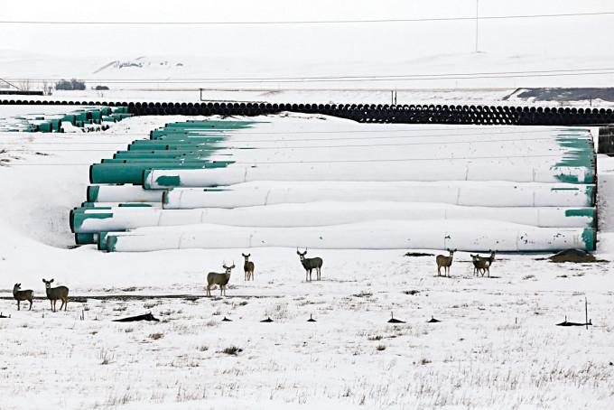 加拿大輸油管公司在北達科他州的輸油管儲存庫。