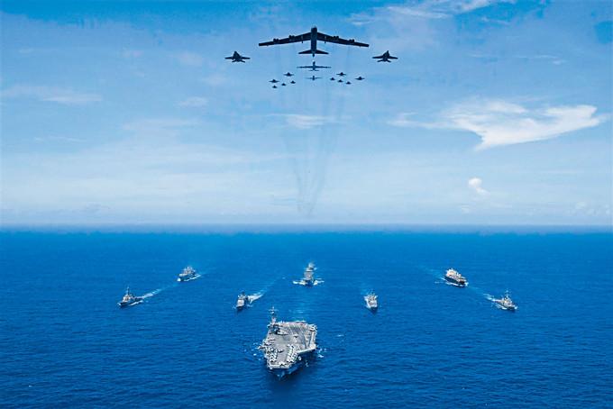 美國海軍近年多次在亞太地區舉行大規模軍演。