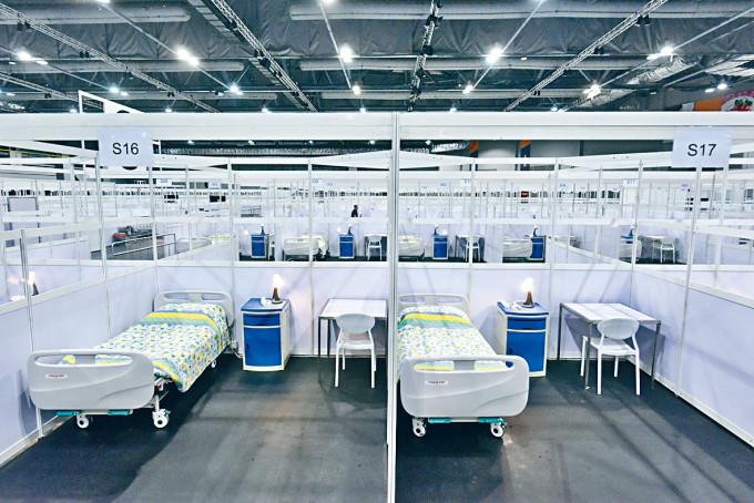 亞博館專門接收病情穩定的新冠肺炎確診者。