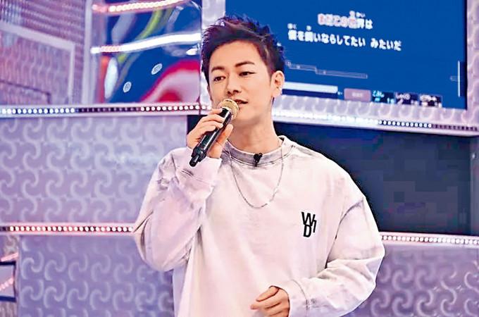 佐藤健在節目中開金口唱K,獲觀眾讚可做歌手。