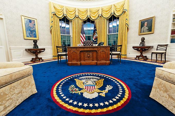 拜登入主白宮後,橢圓形辦公室換上新面貌。