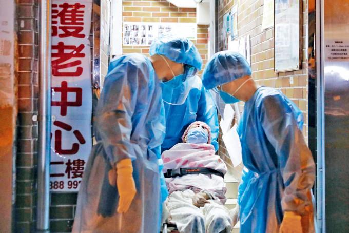 常安護老中心一名院友初步確診,其他院友須送往檢疫中心隔離。