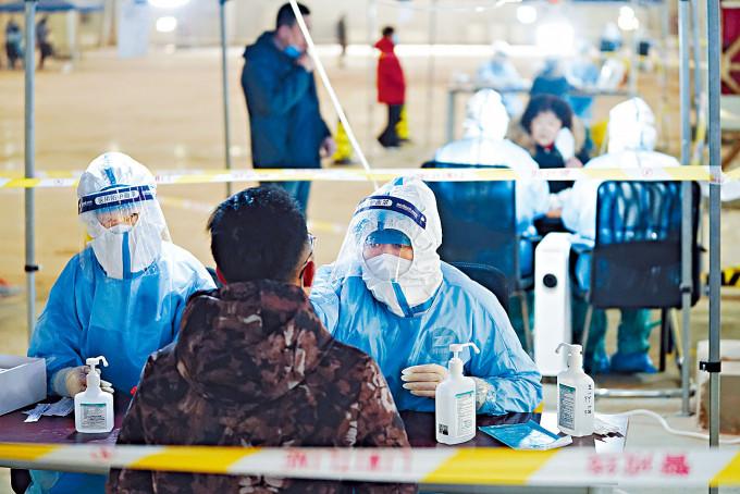 北京大興開展全員核酸檢測。