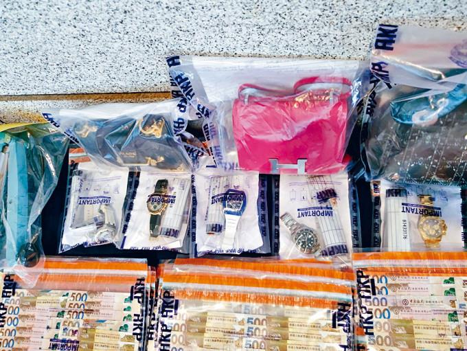 「毒鴛鴦」以犯罪得益購買名表及手袋。