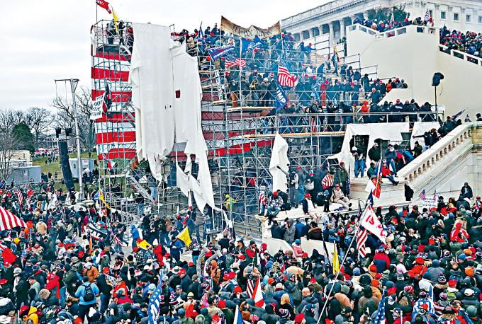 特朗普支持者上周三衝擊國會山莊。