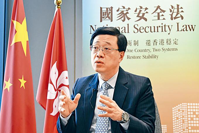李家超指BNO只是旅遊證件,不會享有任何領事保護權。