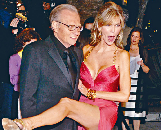 Larry King與已宣布離婚的第七任太太Shawn King。