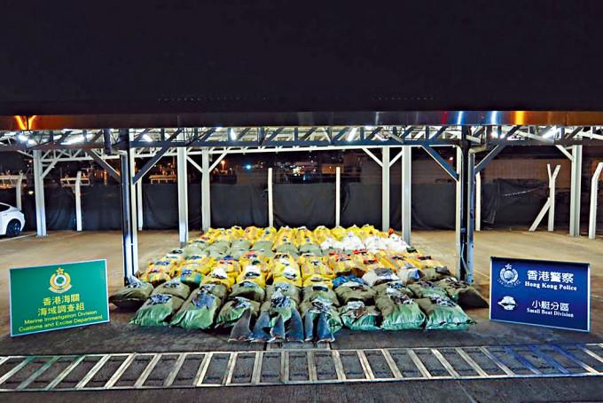 水警聯同海關截獲總值逾七百萬元的走私貨物。