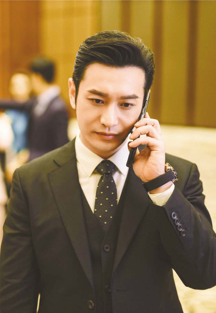 ■黃曉明在片中飾演公關專家林忠碩。 網上圖片