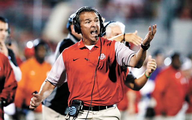 這是邁爾早前於NCAA大學橄欖球比賽中在場邊大喊。資料圖片