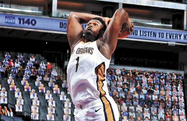 狀元郎錫安闖關NBA,速度和爆發力是其最大武器。網上圖片