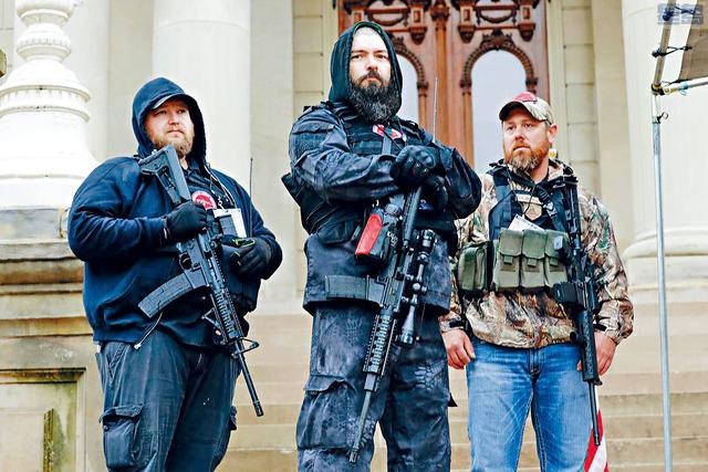 有傳數千名「武裝愛國者」計劃在總統就職日前前往華府。法新社