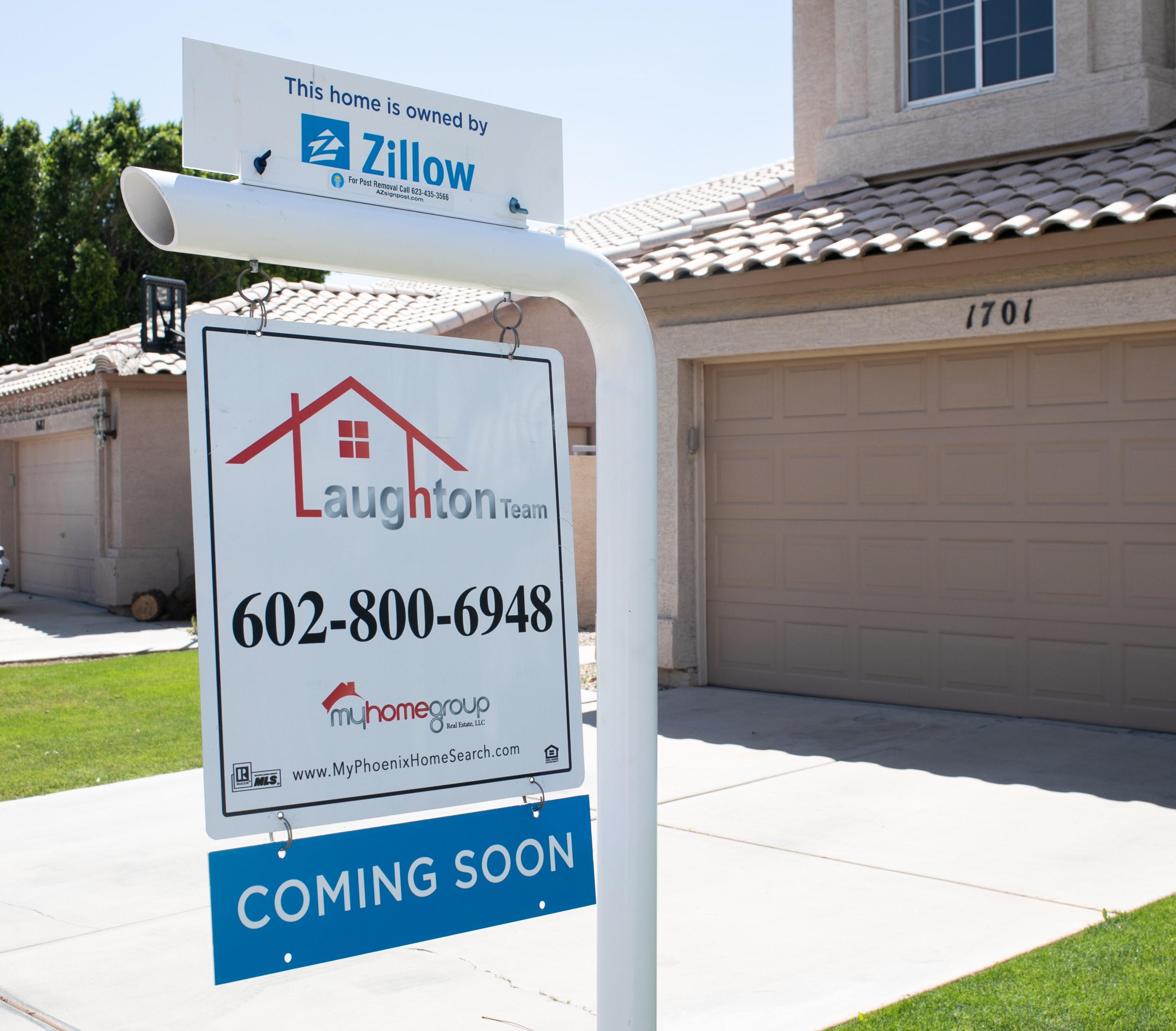 房地產網站Zillow擴大業務後推出新服務,公司為有意放盤的業主估價後,可以直接以現金購下房屋。Zillow圖片