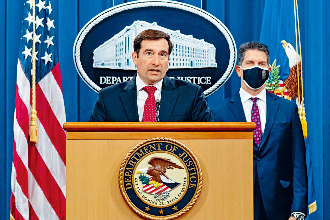 美國助理司法部長德默斯指竊取商業機密是美企面對的持續威脅。資料圖片