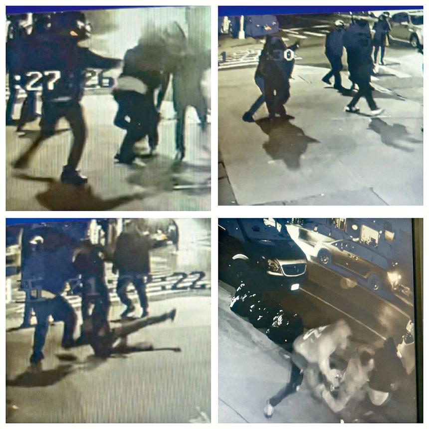 案發現場附近的監控視頻顯示了華青被刺的鏡頭。