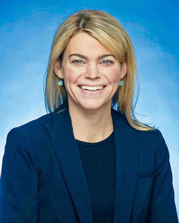 紐約市捷運局總裁芬伯格(Sarah Feinberg)。