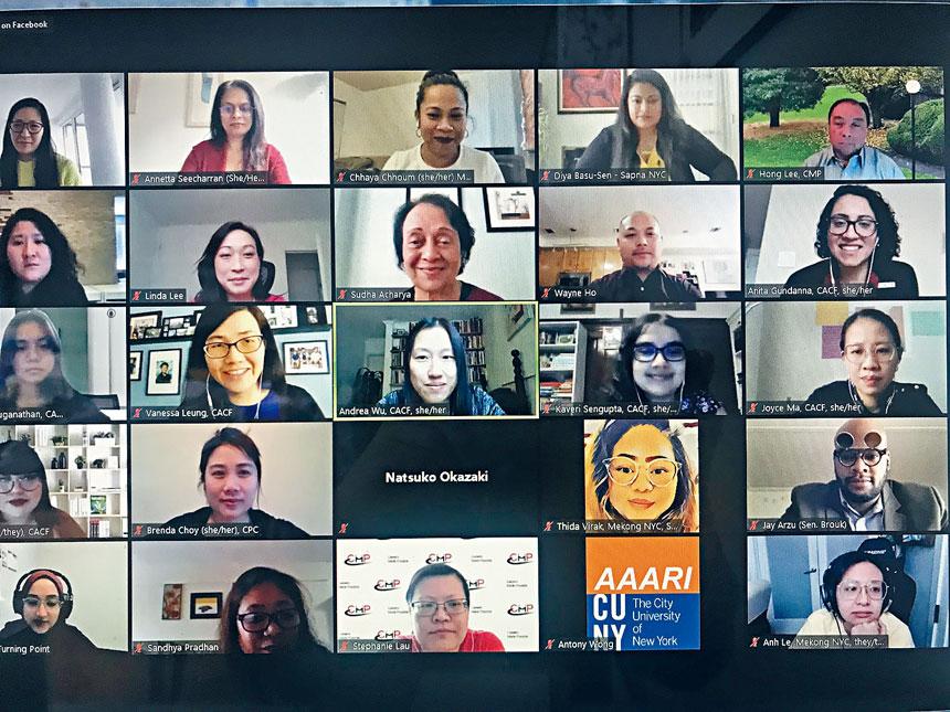 多個亞裔服務機構參加研討會。