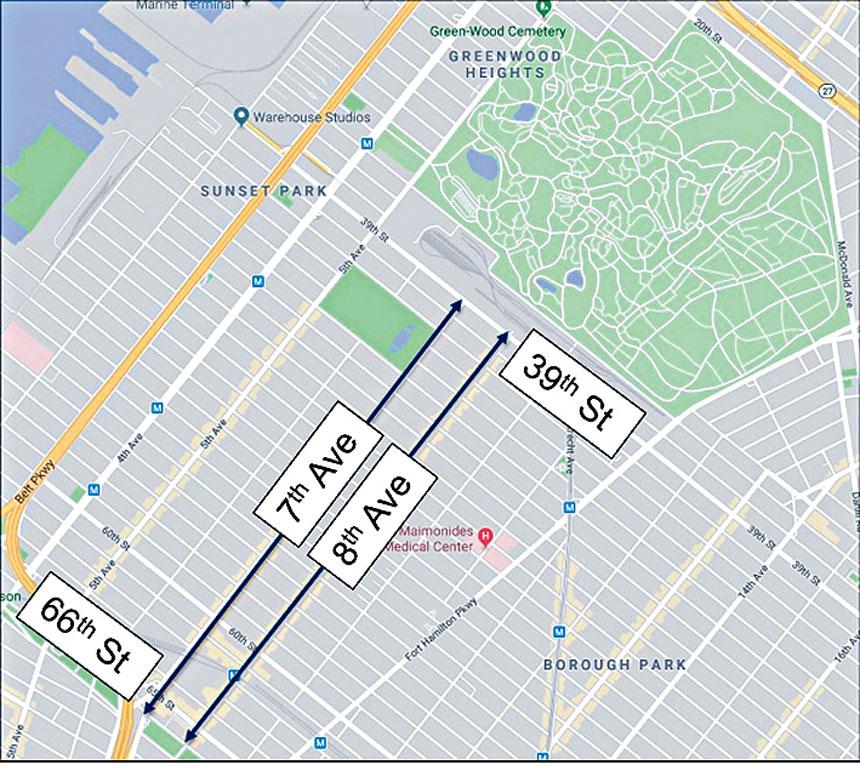 市交通局欲將布碌崙七八大道改為單行道。 市交通局提供