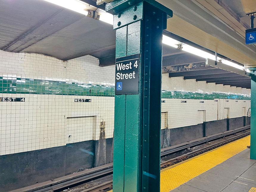 位於曼哈頓下城的西4街地鐵站內日前發生一起割臉案件。