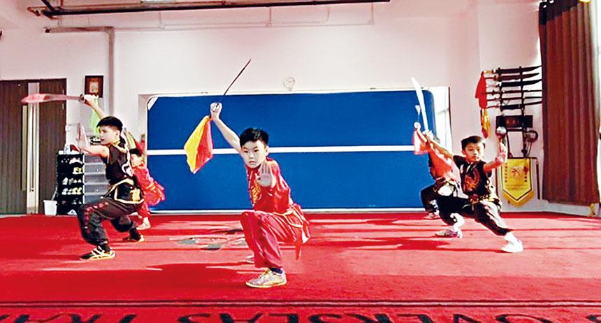 小朋友參加國際武術網賽。