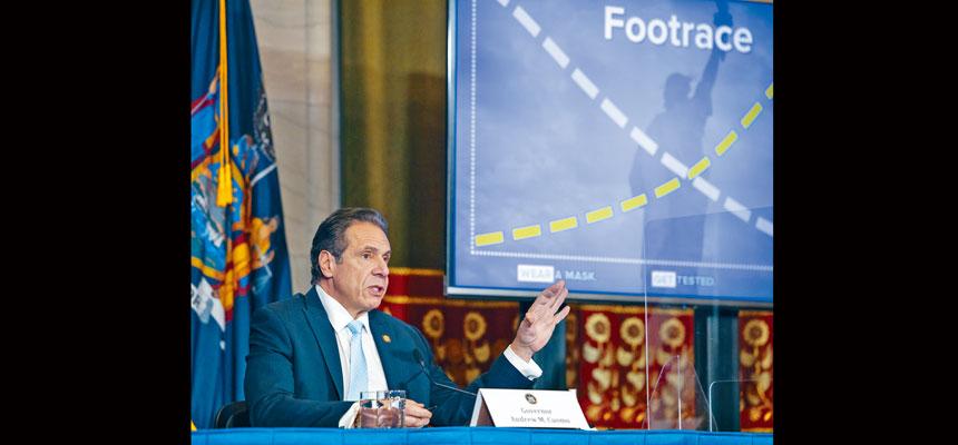 柯謨強調紐約人要保持警惕,以提防疫情再次惡化。州長辦公室Flickr圖片