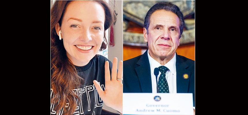 博伊蘭(左圖)發文聲稱柯謨(右圖)對她多次性騷擾。網上圖片、州長辦公室Flickr圖片