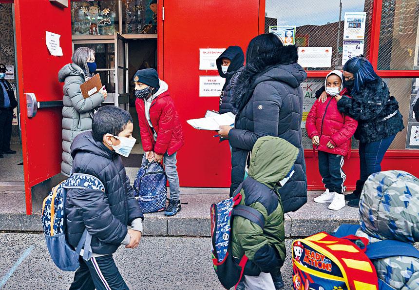工會表示,教師接種疫苗需求殷切。美聯社