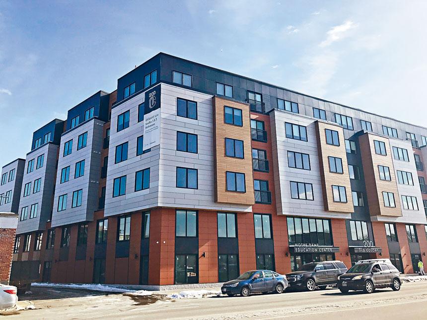 波士頓市一個新建成的經濟適用房項目。溫友平攝