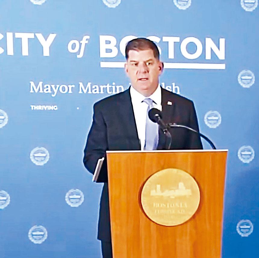 波士頓市長馬丁華殊。網絡圖片