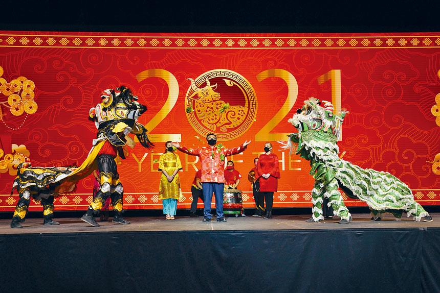 馬里蘭Live! Casino & Hotel慶祝農曆新年,春節活動特別以充滿活力的傳統舞獅,喜迎牛年新歲,恭賀顧客鴻運當頭。