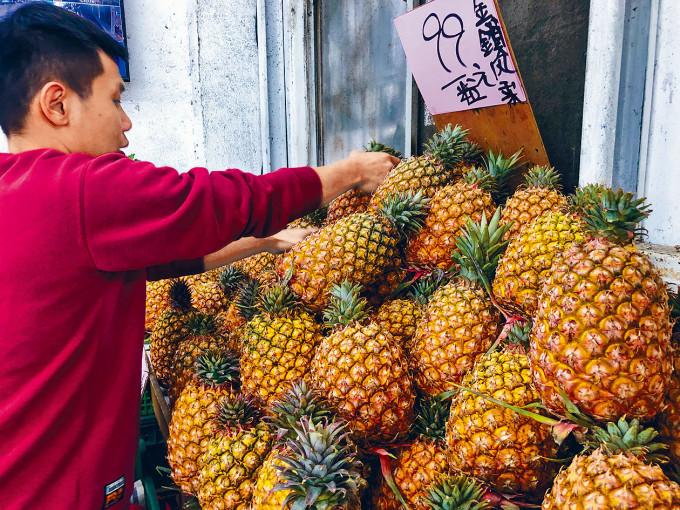 台灣出口的菠蘿,超過九成銷往大陸。