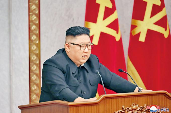 金正恩上月出席勞動黨中委會會議。