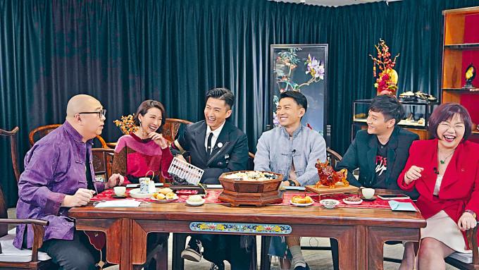 姚子羚、陳山聰、袁偉豪和謝東閔一班老友齊上《師父有請》節目做嘉賓。