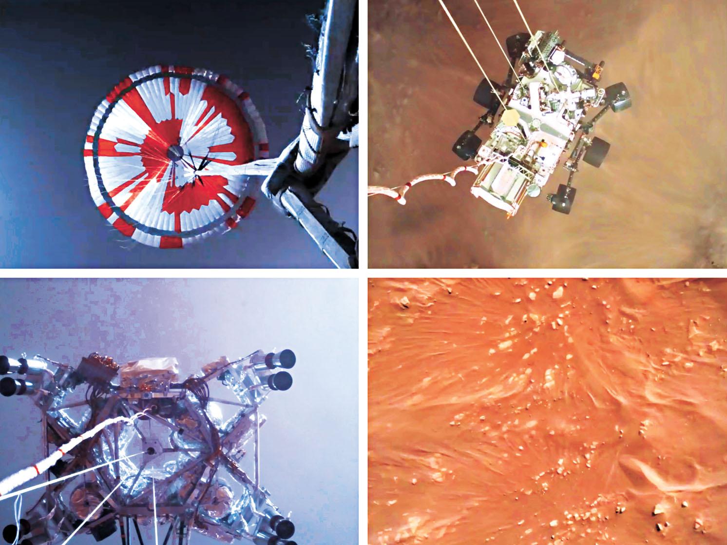 NASA公布毅力號著陸影片。美聯社