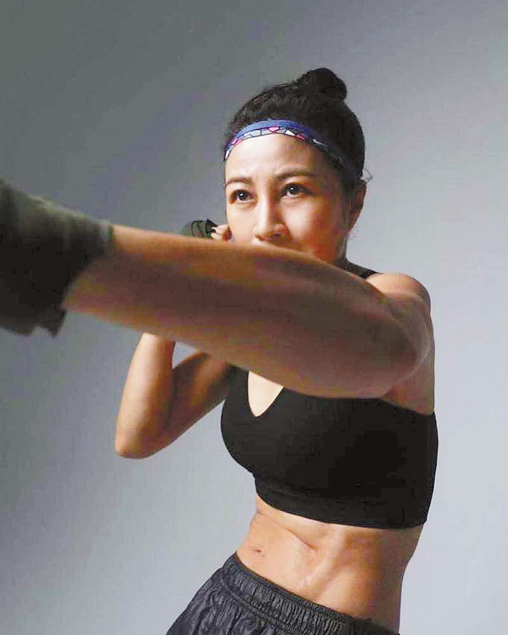 方文琳曬出拳擊照
