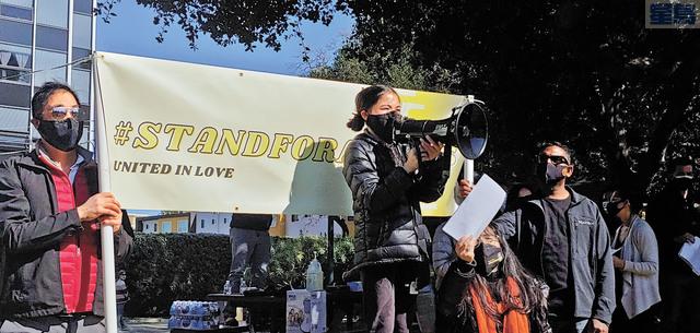 蘇凱盈呼籲市民勇敢站出來,同心合力阻止種族主義仇恨。記者李兆庭攝