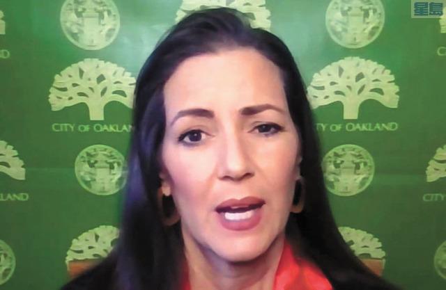 屋崙市長薛麗比表示與警方加強合作打擊暴力罪案。CBS電視畫面