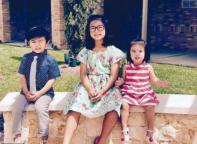 圖為喪生火海的越裔姐弟3人。據報,他們是在德州大停電期間啟動壁爐取暖,不幸造成火災意外。    臉書圖片